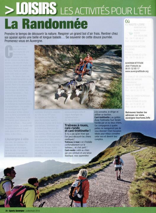 Cani-rando et cani-trotinnette en Auvergne
