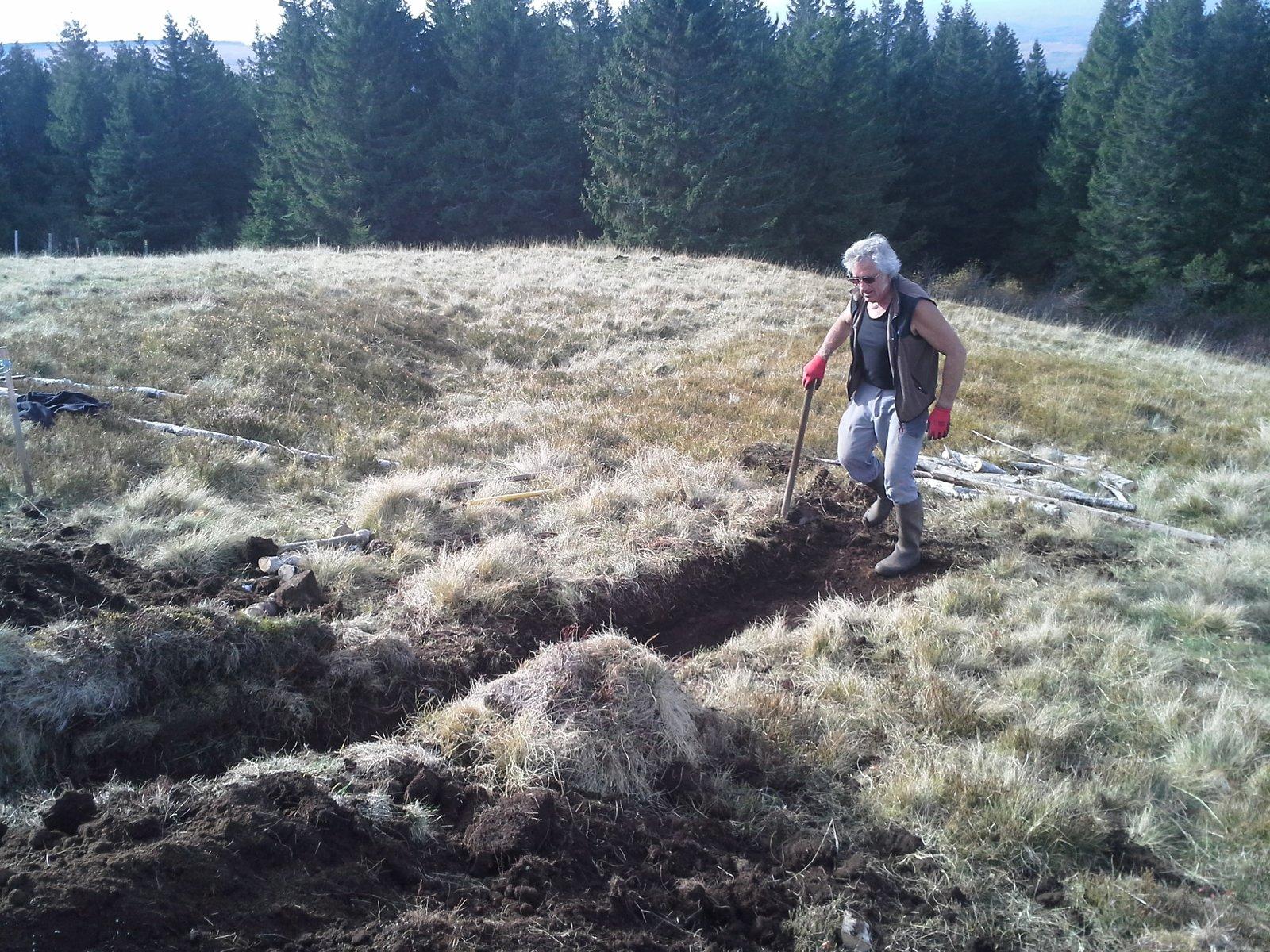 Reproduction grandeur nature d'un TRA en Auvergne (massif du Sancy)