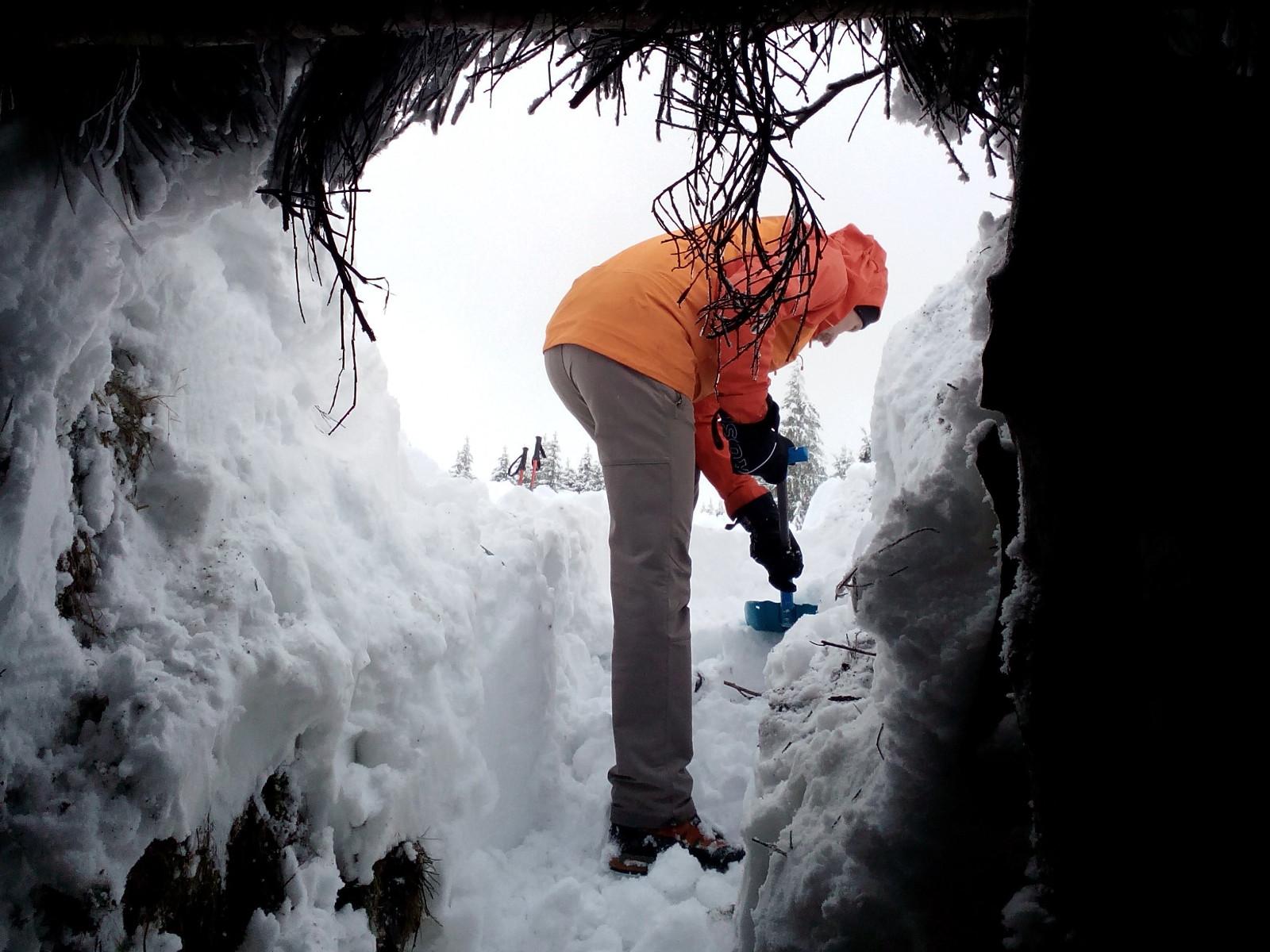 Tra sous la neige - Banne d'Ordanche - Massif du Sancy - Puy-de-Dôme - Auvergne