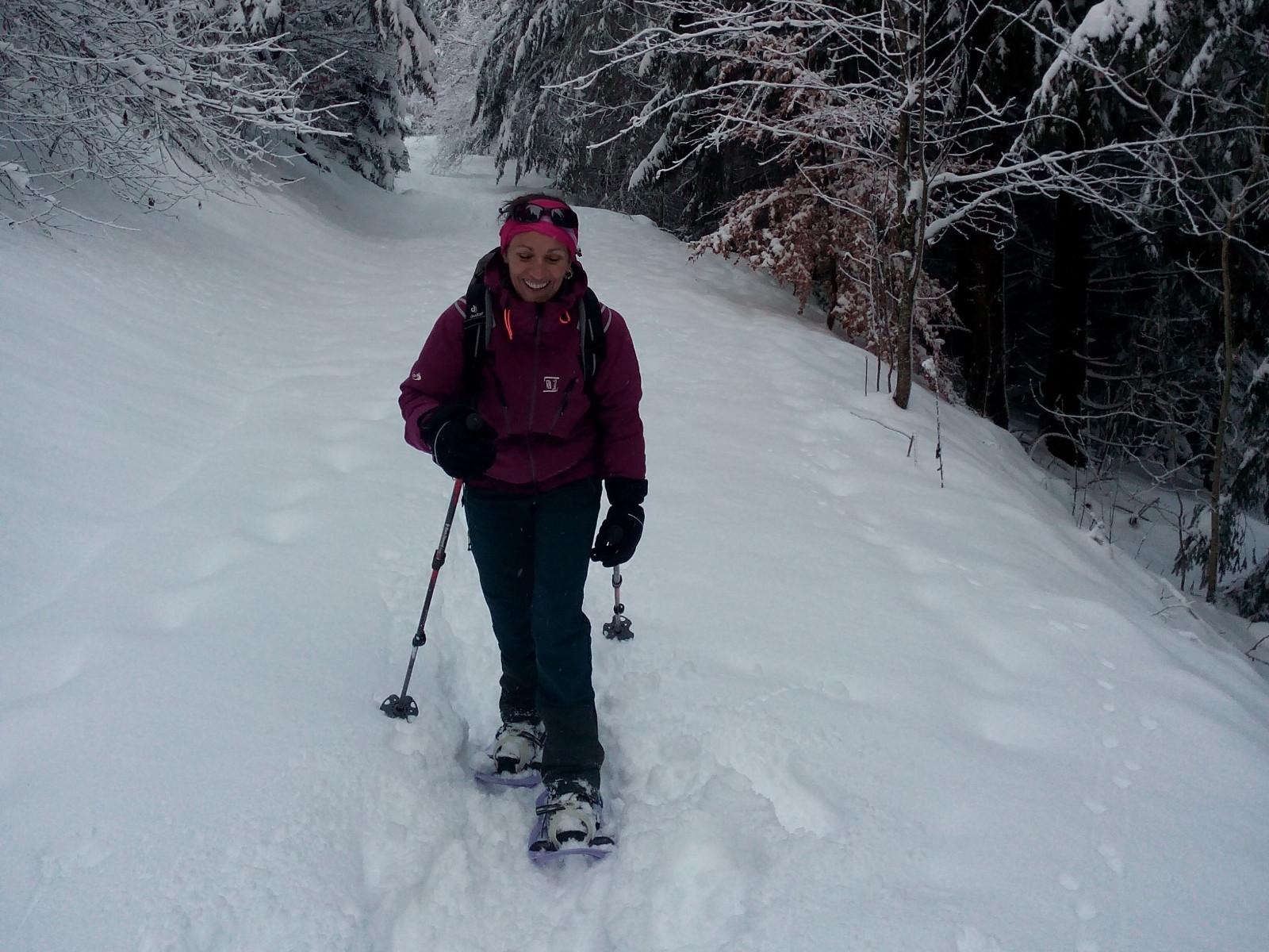 Retour du TRA à raquettes à neige - Banne d'Ordanche - Massif du Sancy - Puy-de-Dôme - Auvergne