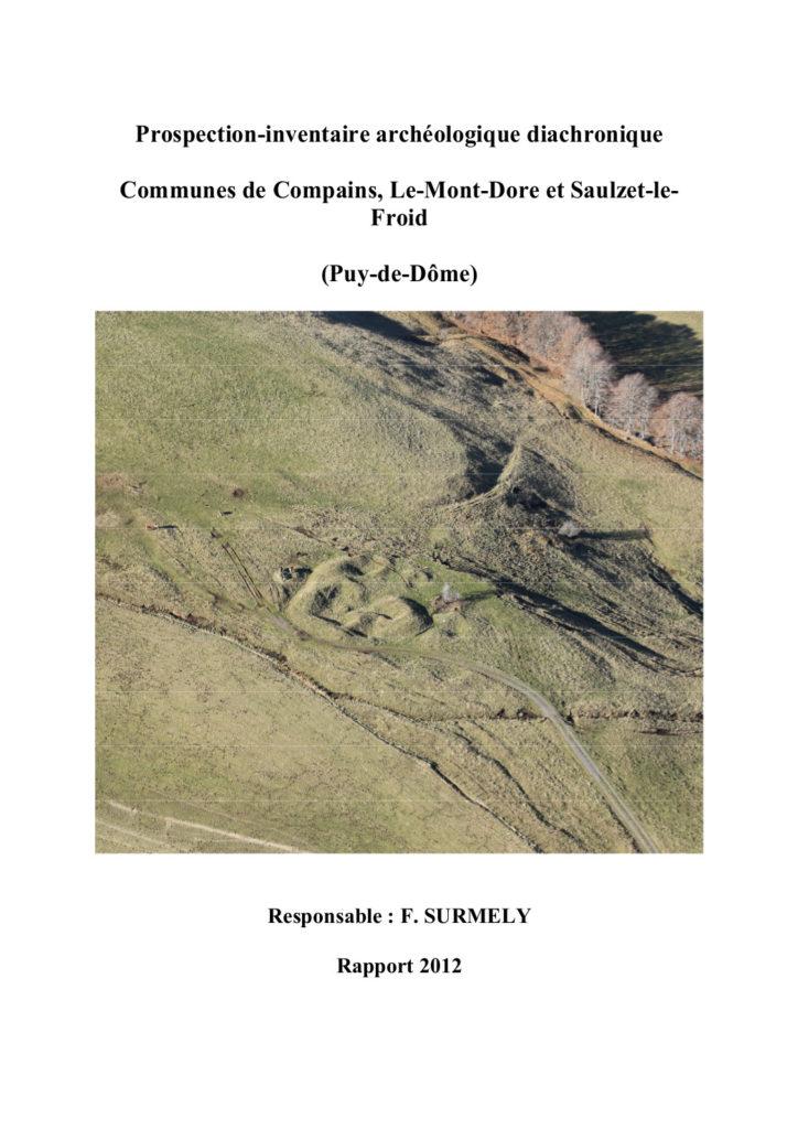 Archéologie, massif du SANCY, Frédéric SURMELY