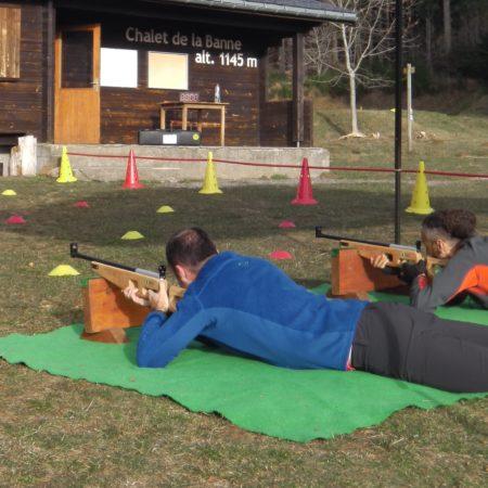 Biathlon-laser dans le Massif du Sancy avec Auvergn'Attitude