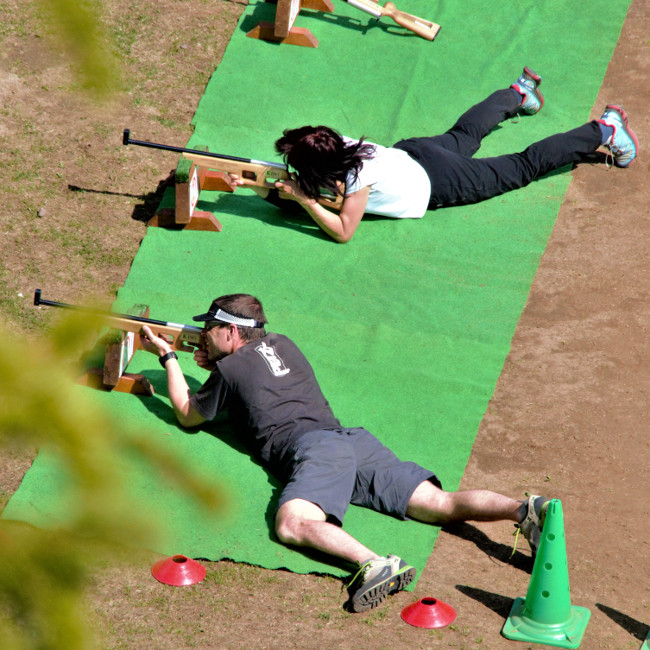 Biathlon-Laser avec Auvergn'Attitude